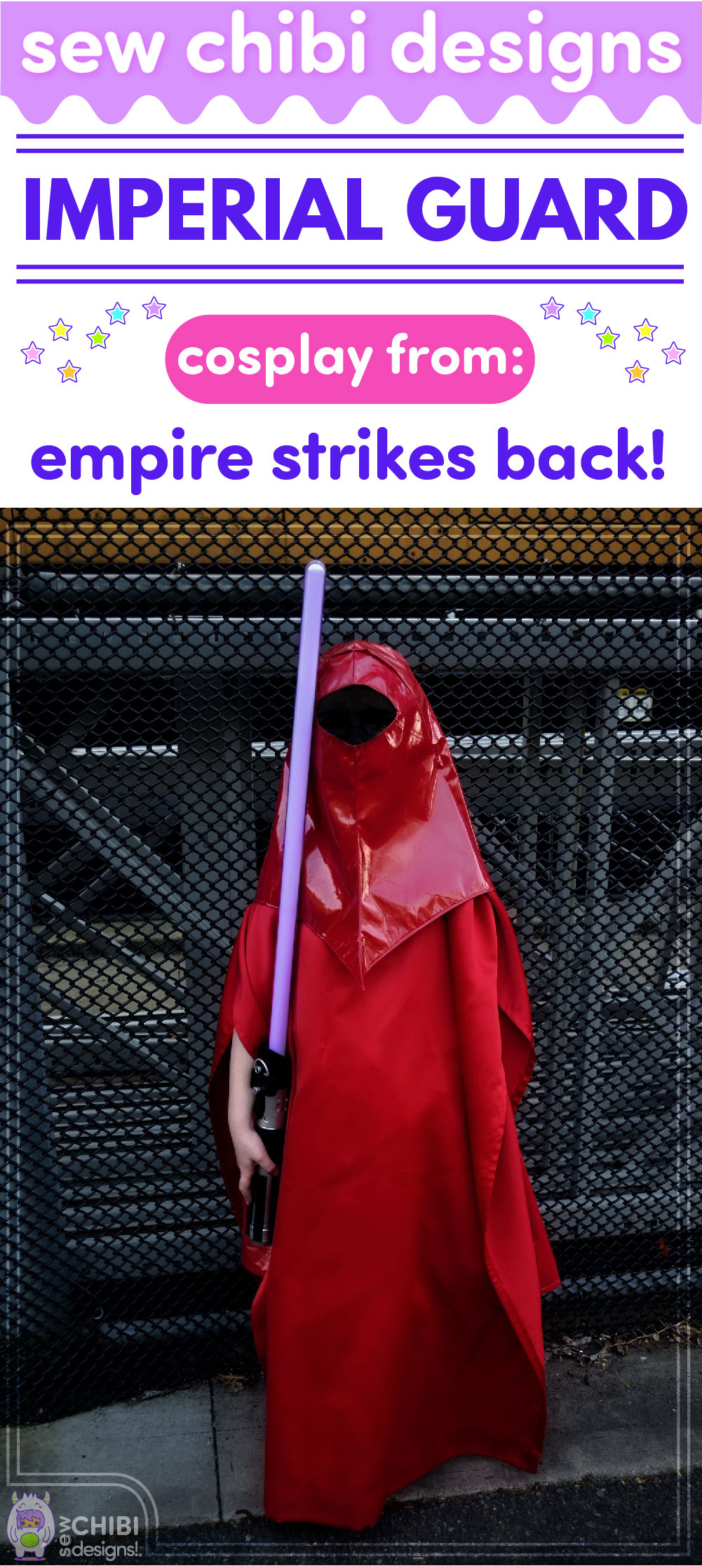 Star Wars Imperial Guard chibi cosplay from Empire Strikes Back sewn by Sew Chibi Designs for Sew Geeky