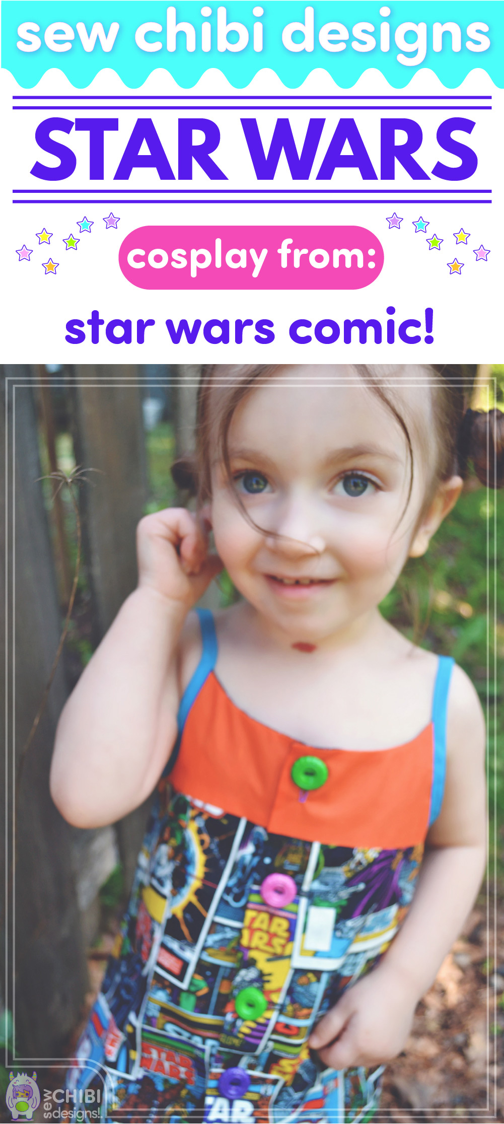 chibi cosplay from Star Wars sewn by Sew Chibi Designs for Sew Geeky