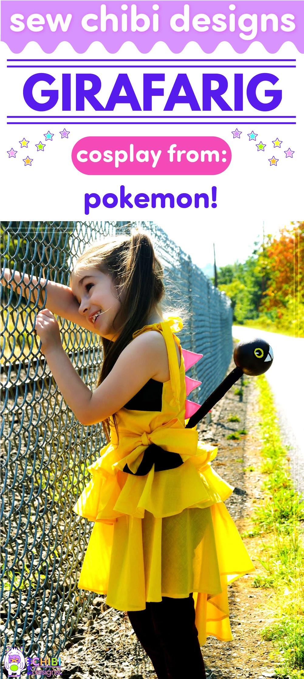 Girafarig chibi cosplay from Pokemon sewn by Sew Chibi Designs for Sew Geeky