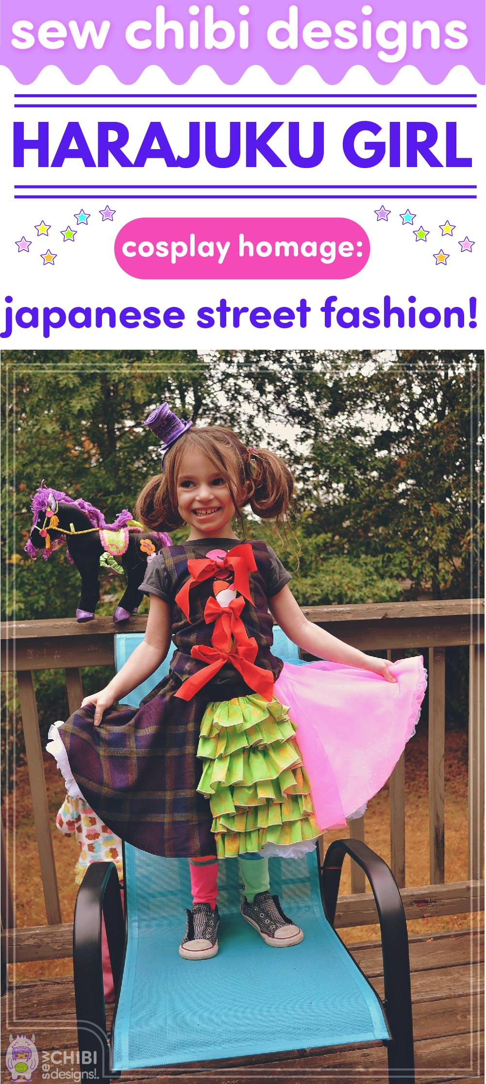 chibi cosplay inspired by Harajuku Tokyo Japanese Street Fashion sewn by Sew Chibi Designs for Sew Geeky