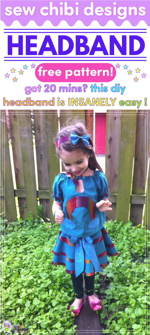 Make a headband with this insanely easy tutorial by Sew Chibi Designs. She'll show you, step by step, how to diy this simple hair accessory! Perfect for beginner sewing!