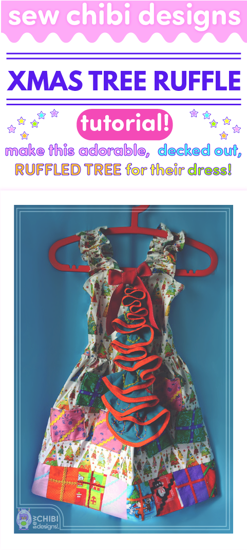 Make a ruffle Christmas tree that you can embroider with ornaments and lights with this tutorial by Sew Chibi Designs. Cascading ruffles make such a visual impact and with this DIY you are surely to have them caroling for more!