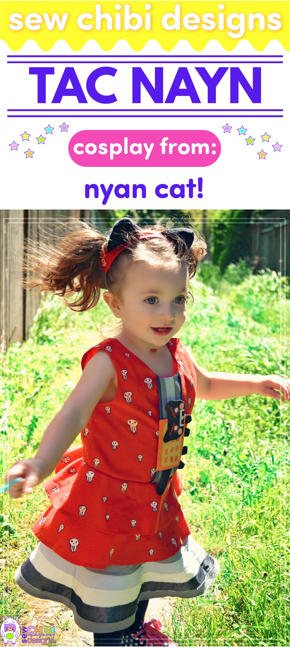 Nyan Cat and Tac Nayn chibi cosplay from Nyan Cat sewn by Sew Chibi Designs for Sew Geeky