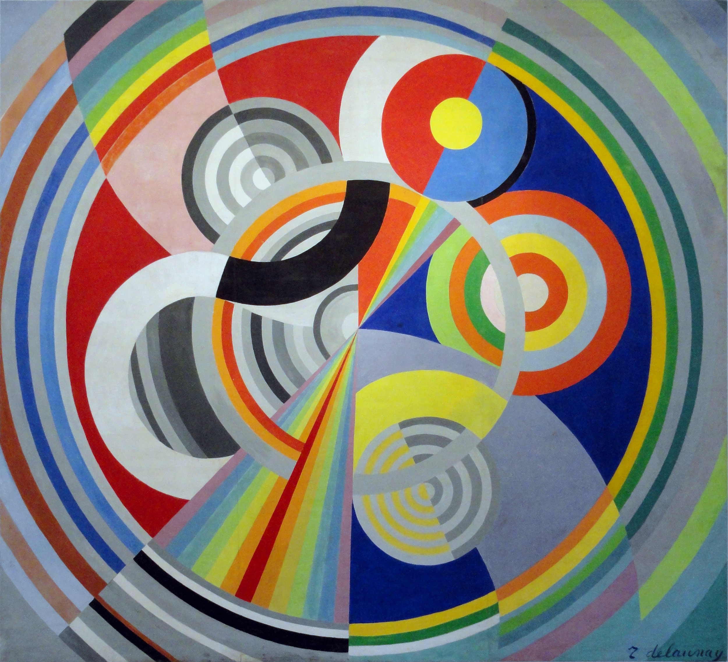Robert Delaunay,  Rythme_n°1  (1938)