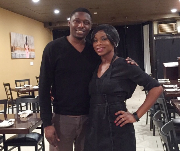 """Ajibola Johnson (with wife and co-owner Funmi Johnson)   Co-owner, Simi's Restaurant   """"We opened up in February (2016), and it's actually named after our daughter Simisola. Simisola in Yoruba means 'rest in wealth', so we're currently looking for money (laughs). The main reason [we opened] it was tough to find Nigerian restaurants in the city that you could feel comfortable bringing your non-Nigerian coworkers or friends to. As far as are customer base, it's probably about 60% percent Nigerians, 40% non-Nigerians. We're looking for more of a 50/50 split, but it's been great. We have organic walk-ins, but we also have a lot of catering. I'd say about 40% of our revenue comes from catering to Nigerian churches, parties, ceremonies, things of that nature…We love Rogers Park because you have a pretty decent African population around here. And we have multiple demographics in West Rogers Park. The folks that live here are willing to try new things, so that helps a lot."""""""
