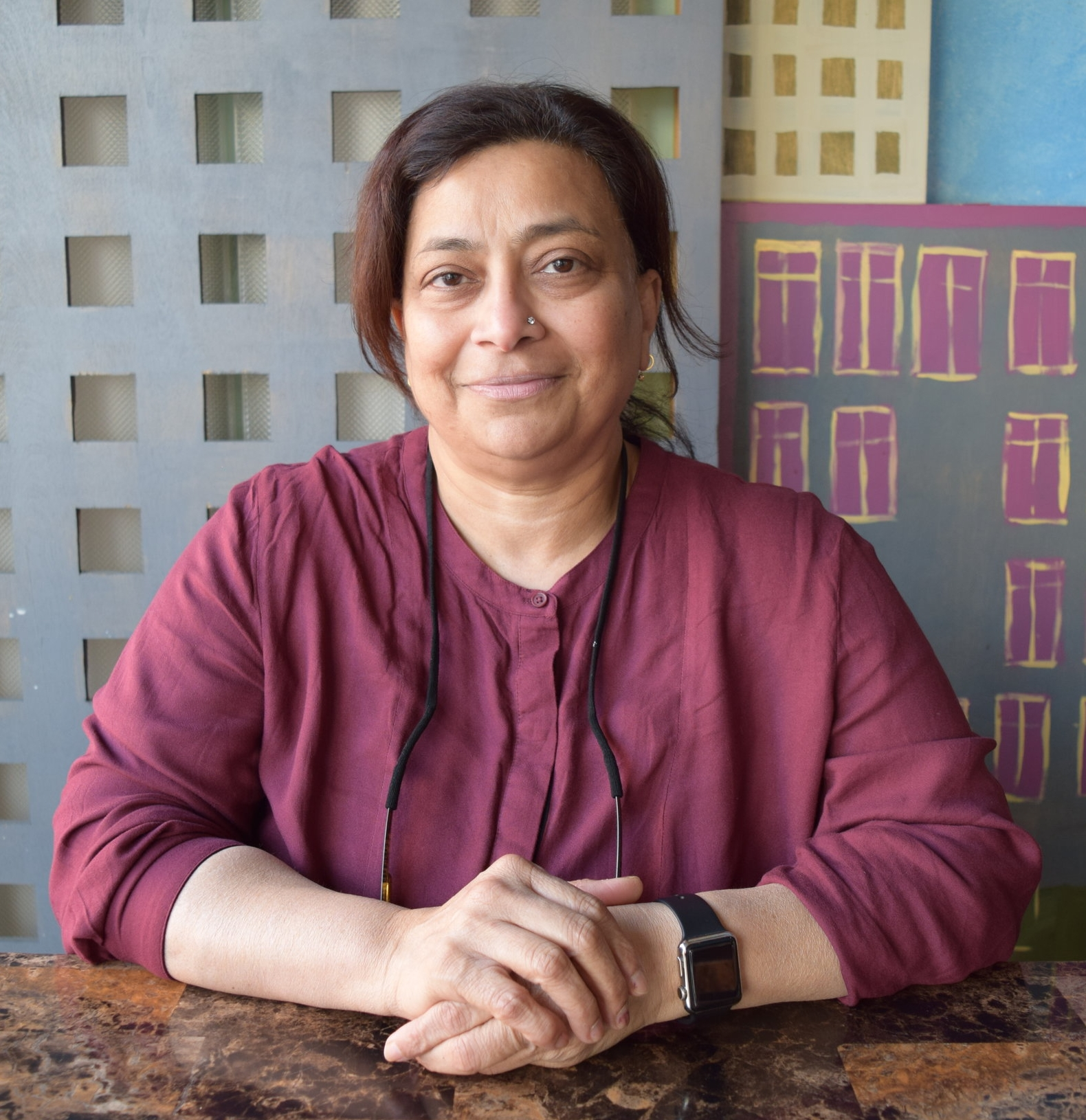 "Hansa Chhabria   Chef/Owner, Uru Swati   ""We opened about 9 years ago.  I would say people should come here because it's like homemade food, not like a restaurant. It covers more than a region.  It's mainly street food of India - South Indian food, North Indian food…It's a great neighborhood because for people from back home, they feel at home, and for people who are not from back home, they can feel a little India over here.  When I migrated to this country in 83', I would make sure I would come once a week with my kids just to feel not that homesick.  I think it does that to everyone else too."""