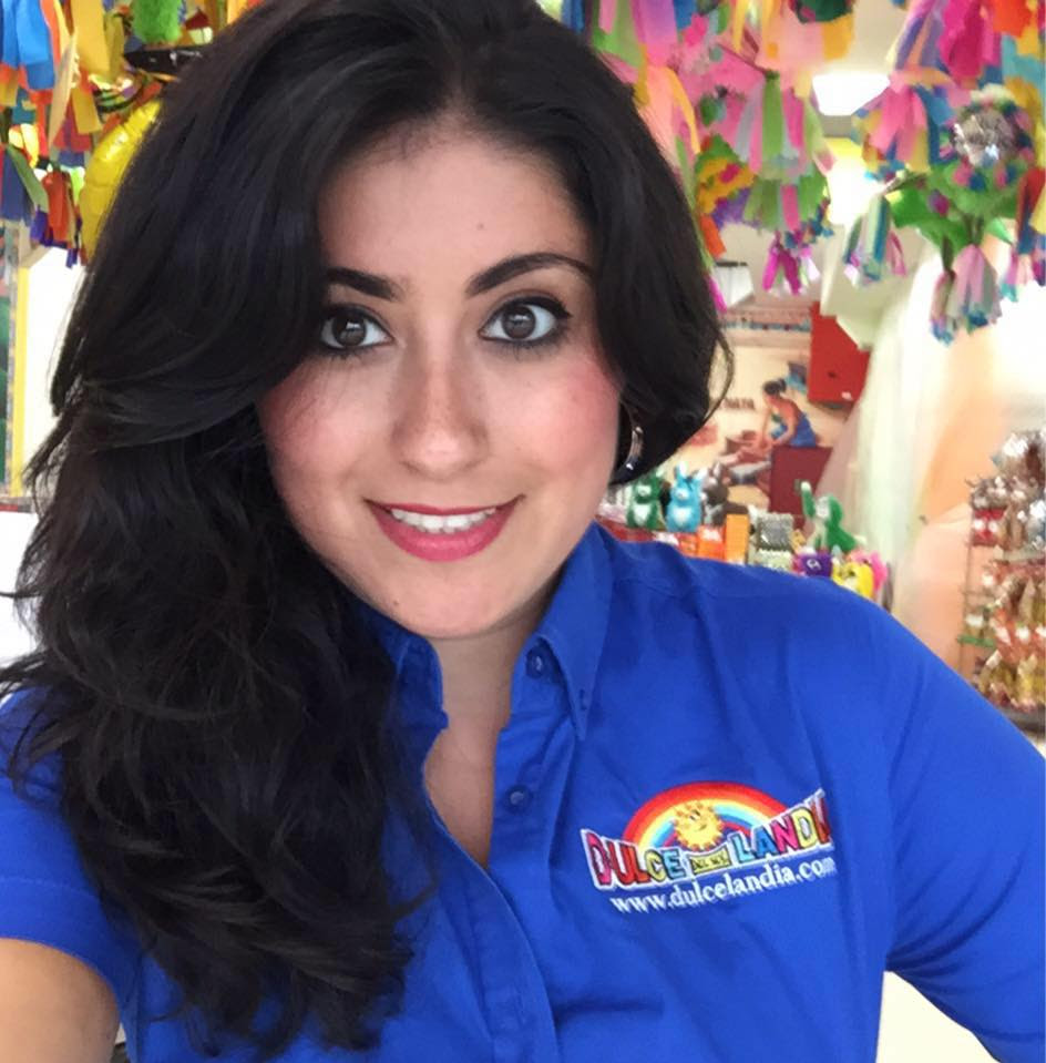 "Eve Rodriguez Montoya   VP of Brand Strategy, Dulcelandia   Creator,  Yogolandia Yogurt and Botana Bar   ""Dulcelandia started in 1995 by my father, Eduardo Rodriguez.  Basically, he started importing candy and piñatas from Mexico, mainly Guadalajara, Michoacán…Mexico is known for their confectionary products, both candy and snacks. So when my dad started Dulcelandia, he wanted to bring that nostalgic feeling of going to Mexico, buying these products for our large immigrant community in Chicago who didn't have the access to those products.  Right now we have about 600 different varieties of candy and piñatas.  I'm updating the store to incorporate some American candy as well just because growing up with two cultures in Chicago and knowing that as much as I love marzipan and the spicy, fruity candy with the [ta]marindo, like mango and sandia, I also really enjoy Hershey's Kisses, and the Kit Kat Bar, and a Tootsie Roll…We also have a sugar skull piñata, which is new for us.  The Day of the Dead is becoming more and more popular each year and throughout the whole country.  So we started importing sugar skulls from Mexico, made in Mexico by hand, as well as Catrinas and Catrines, which are the skeletons that are dressed up in reference to Day of the Dead.  We decided that we are going to carry sugar skulls year round now.  We've had people travel from all over the Midwest to our store for the sugar skulls."""