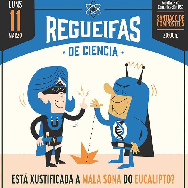 A derradeira desta edición chega o luns 11, cun tema especialmente polémico en #Galicia: Está xustificada a mala sona do #eucalipto? / ¿Está justificada la mala fama del eucalipto?  #Regueifas #RegueifasdeCiencia #divulgación #divulgacióncientífica #santiagodecompostela #santiago #debate @universidade_usc
