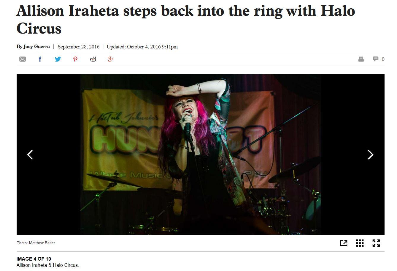 Halo Circus - Houston Chronicle (9/28/16)