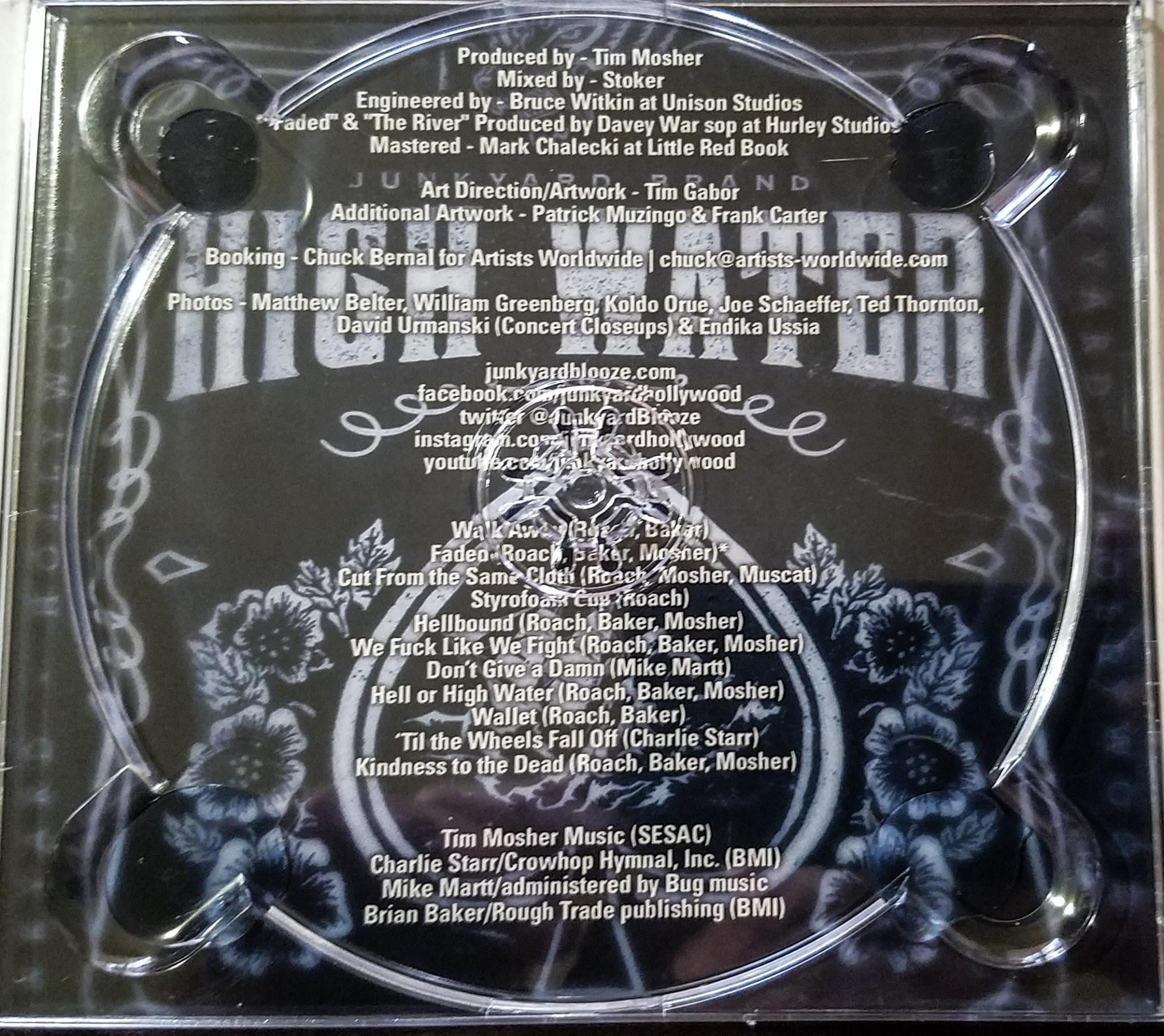"Junkyard ""High Water"" - CD Insert (April, 2017)"