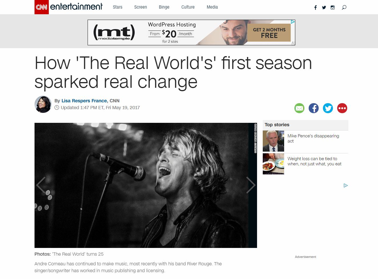 """The Real World's First Season"" - CNN.Com (May 19, 2017)"