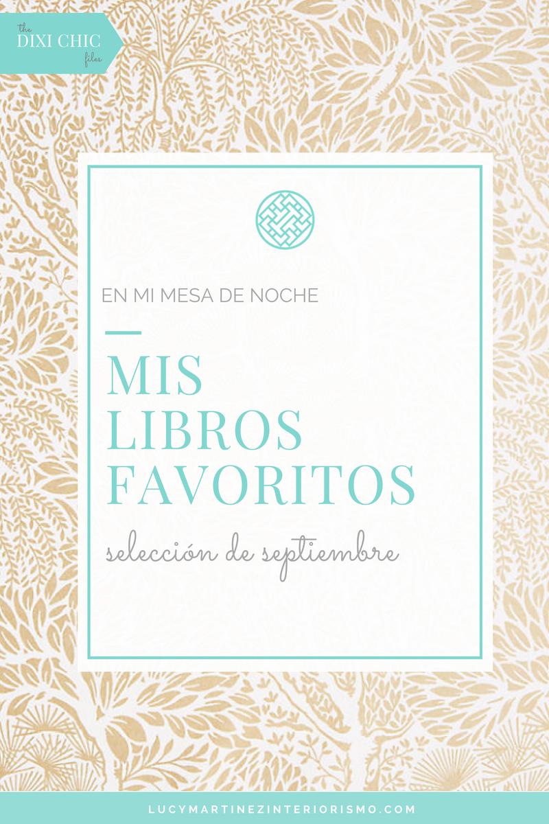 Mis Libros Favoritos. Septiembre. Lucy Martinez