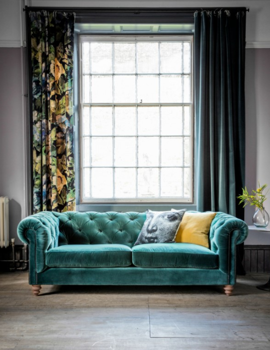 Chesterfield Sofa  Rose and Grey