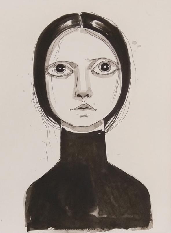 Tania Marmolejo. Ink on watercolor paper.  Lyle O Reitzel Gallery