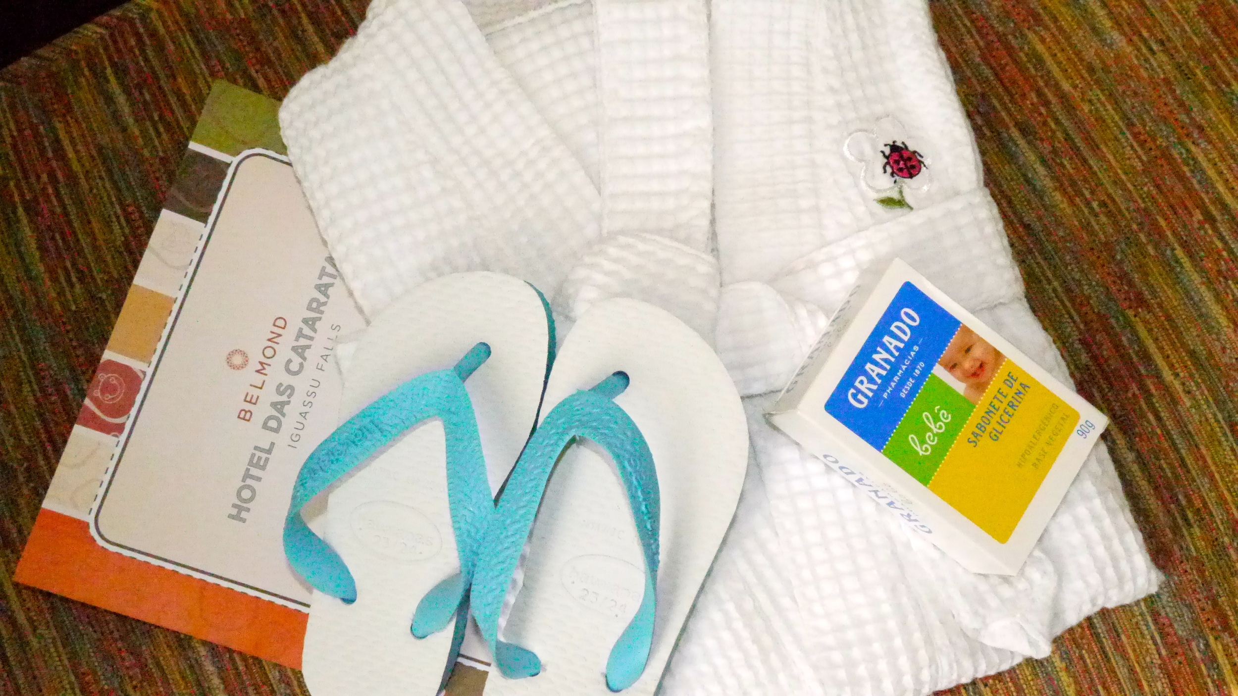 (30) Hotel das Cataratas caters to its youngest guests with kid-sized robes, Havaianas flip-flops and specialty soaps..JPG