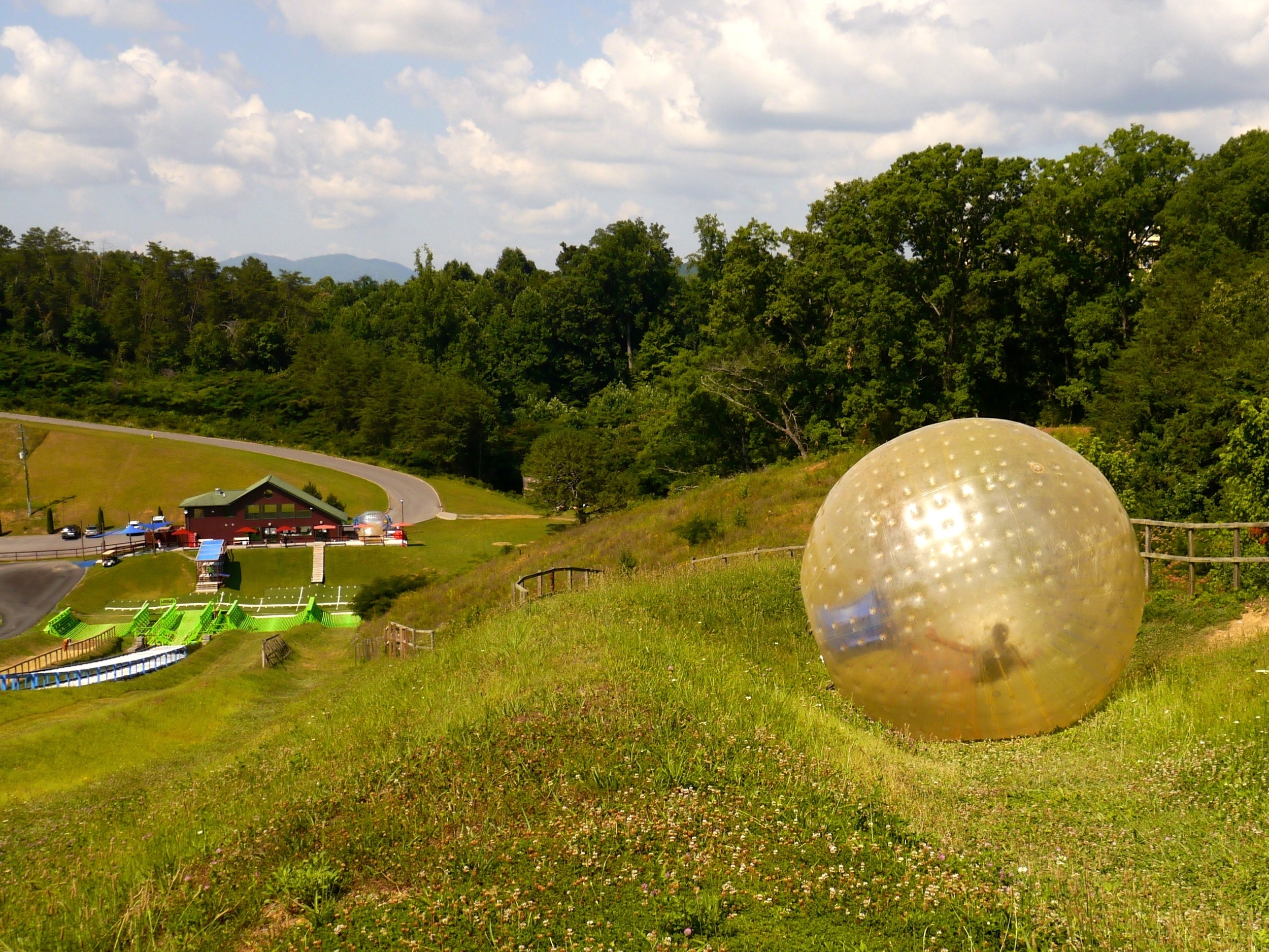 1/Zorbing at Outdoor Gravity Park
