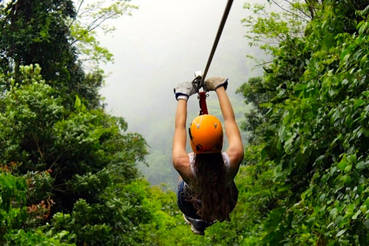 1/Try ziplining