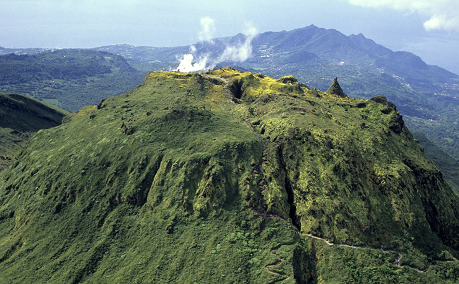 1/Hike to the top of a volcano