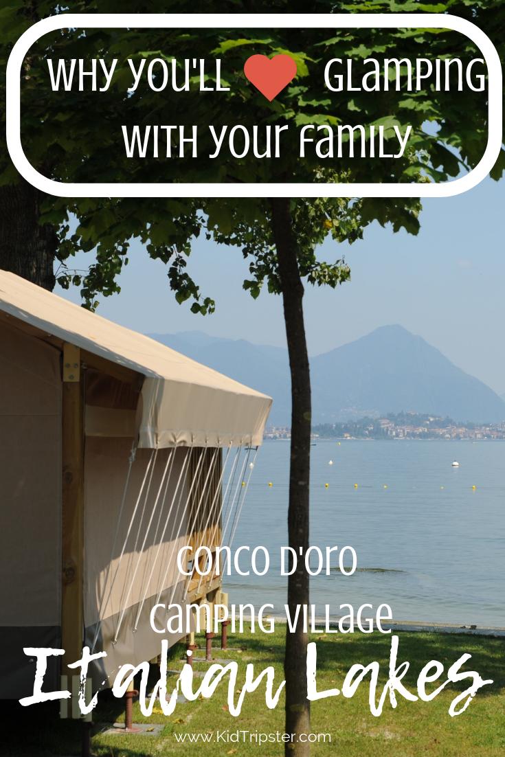 Family glamping in the Italian Lakes, Italy