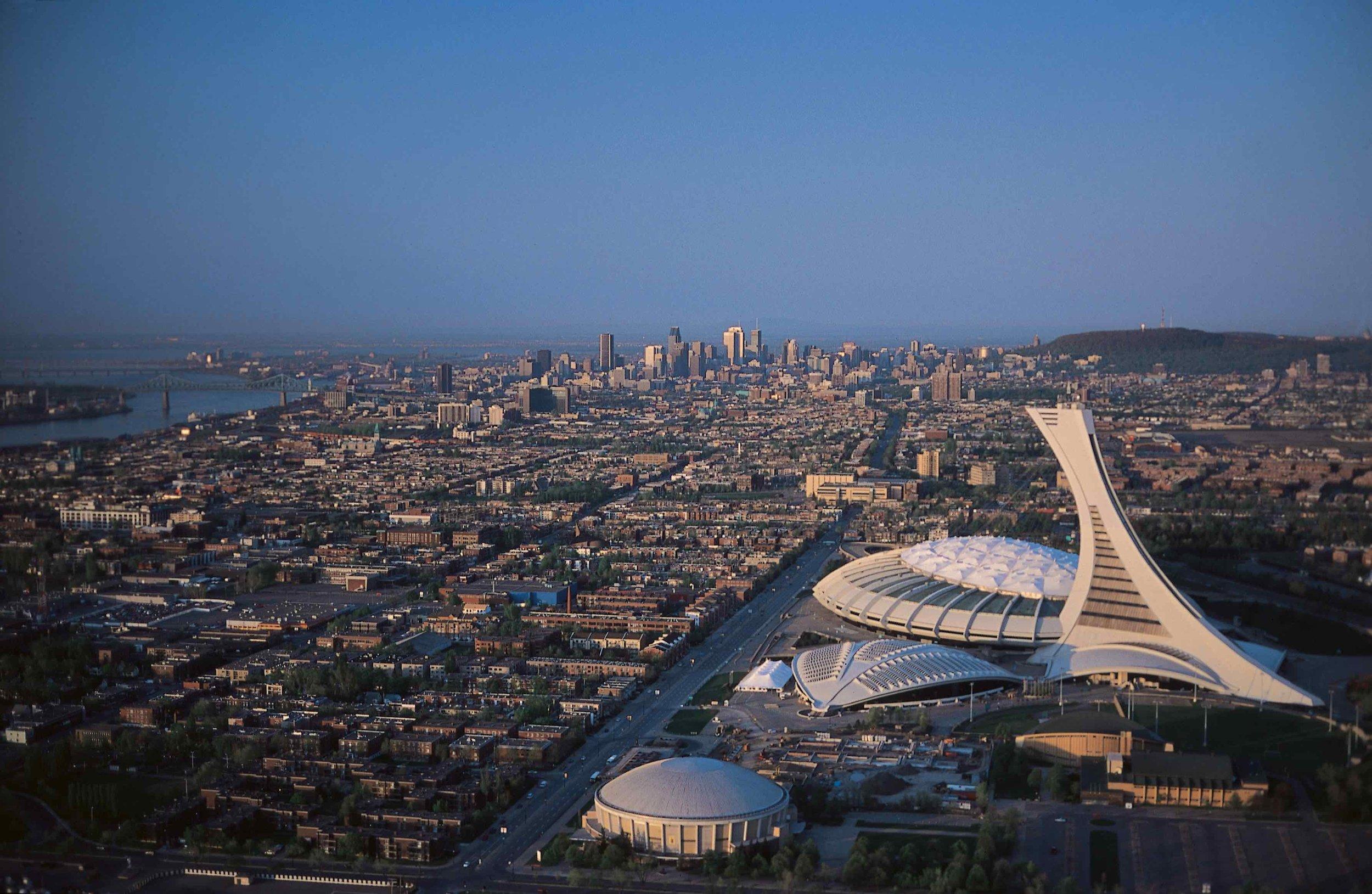 7) Olympic Stadium & Montreal Tower