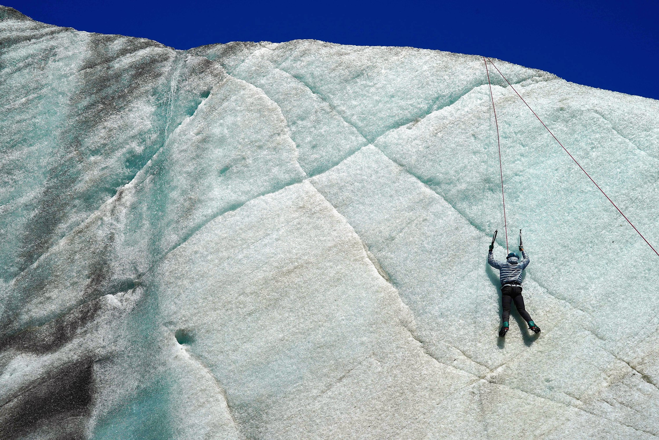 1/Ice climbing in Alaska