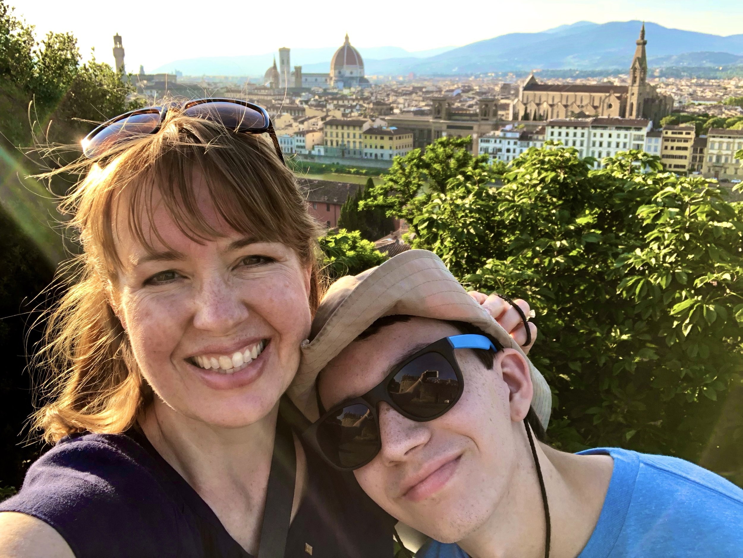 Mother-son vacation