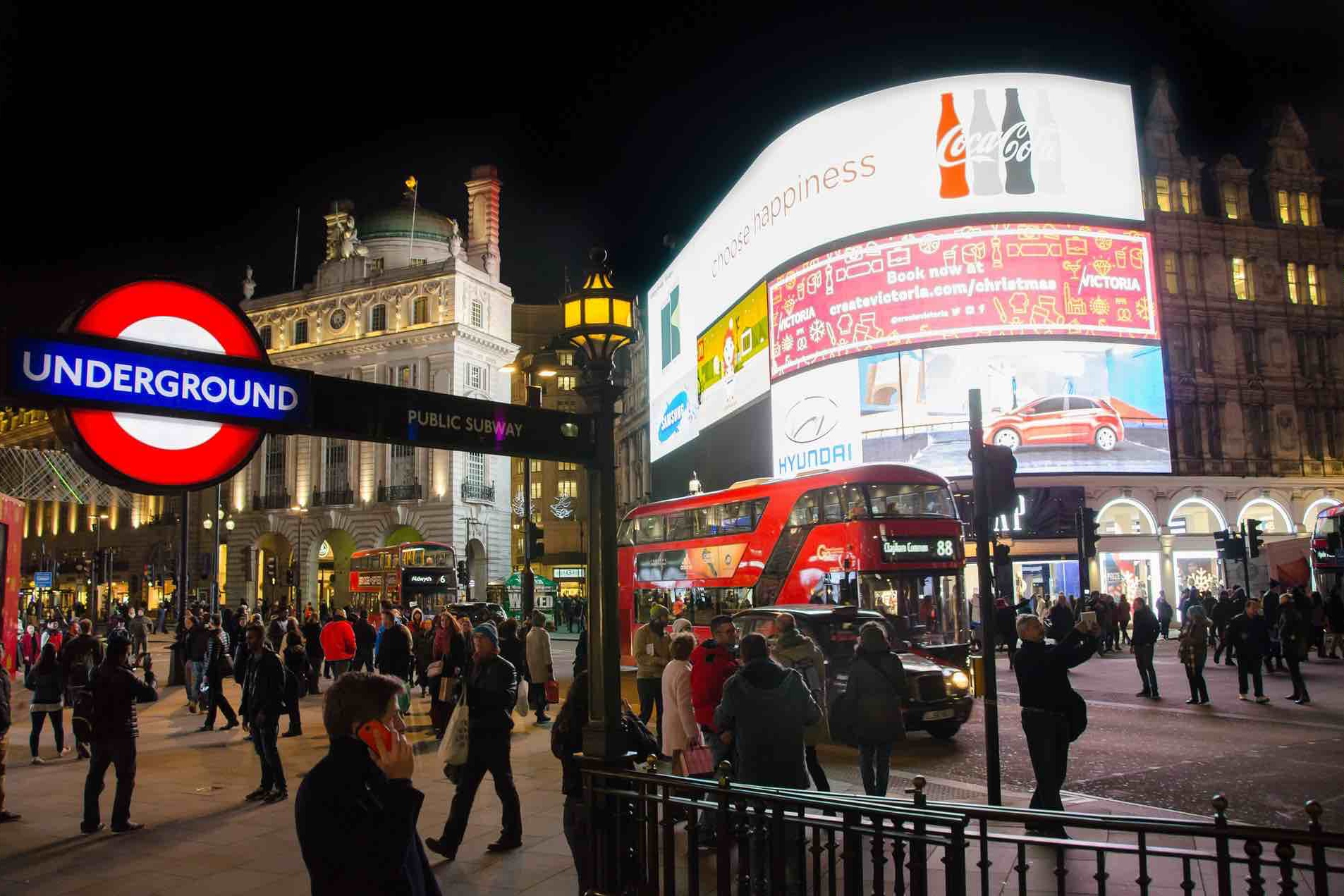 7/Piccadilly Circus Underground Station
