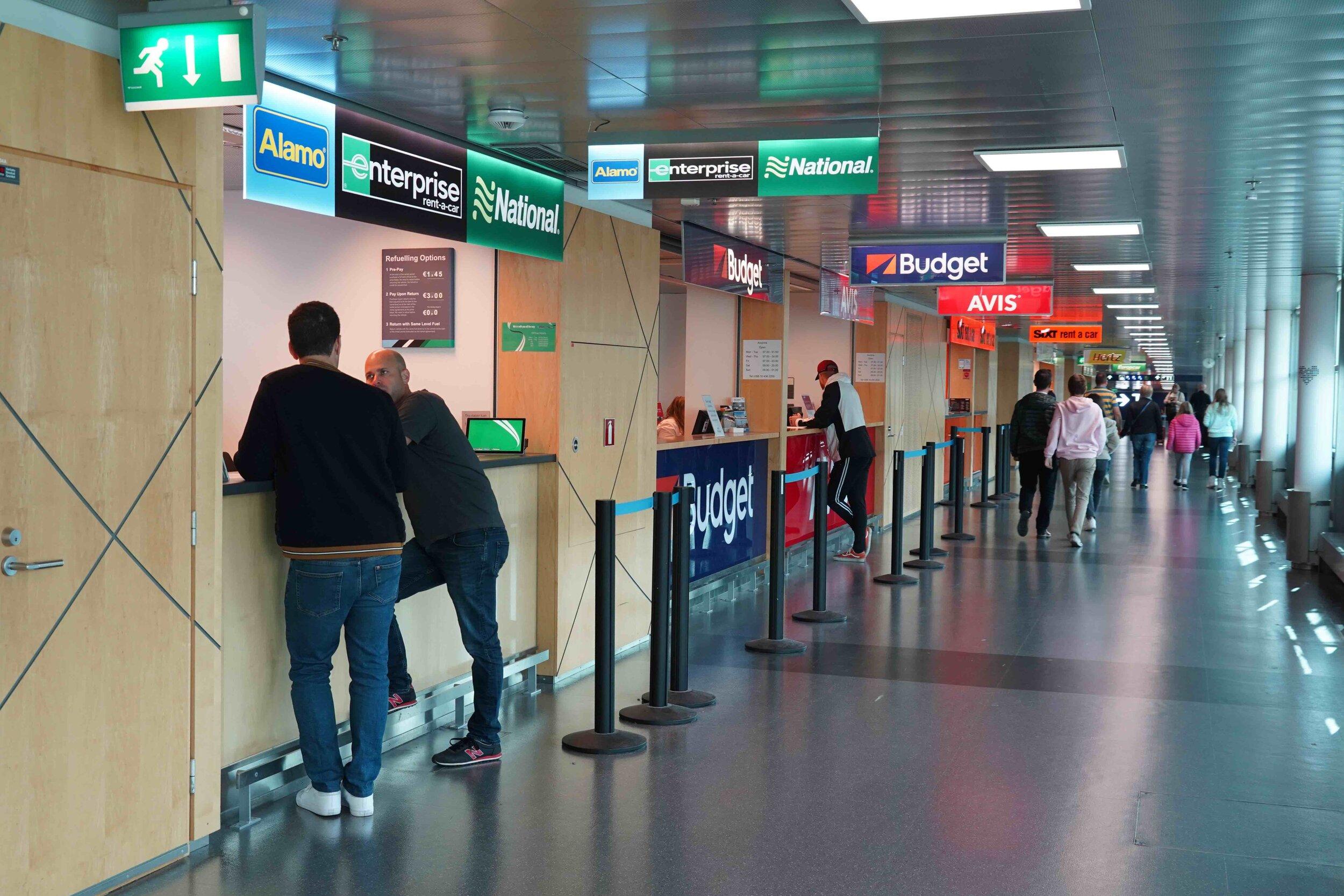 Airport car rental area Helsinki.jpg