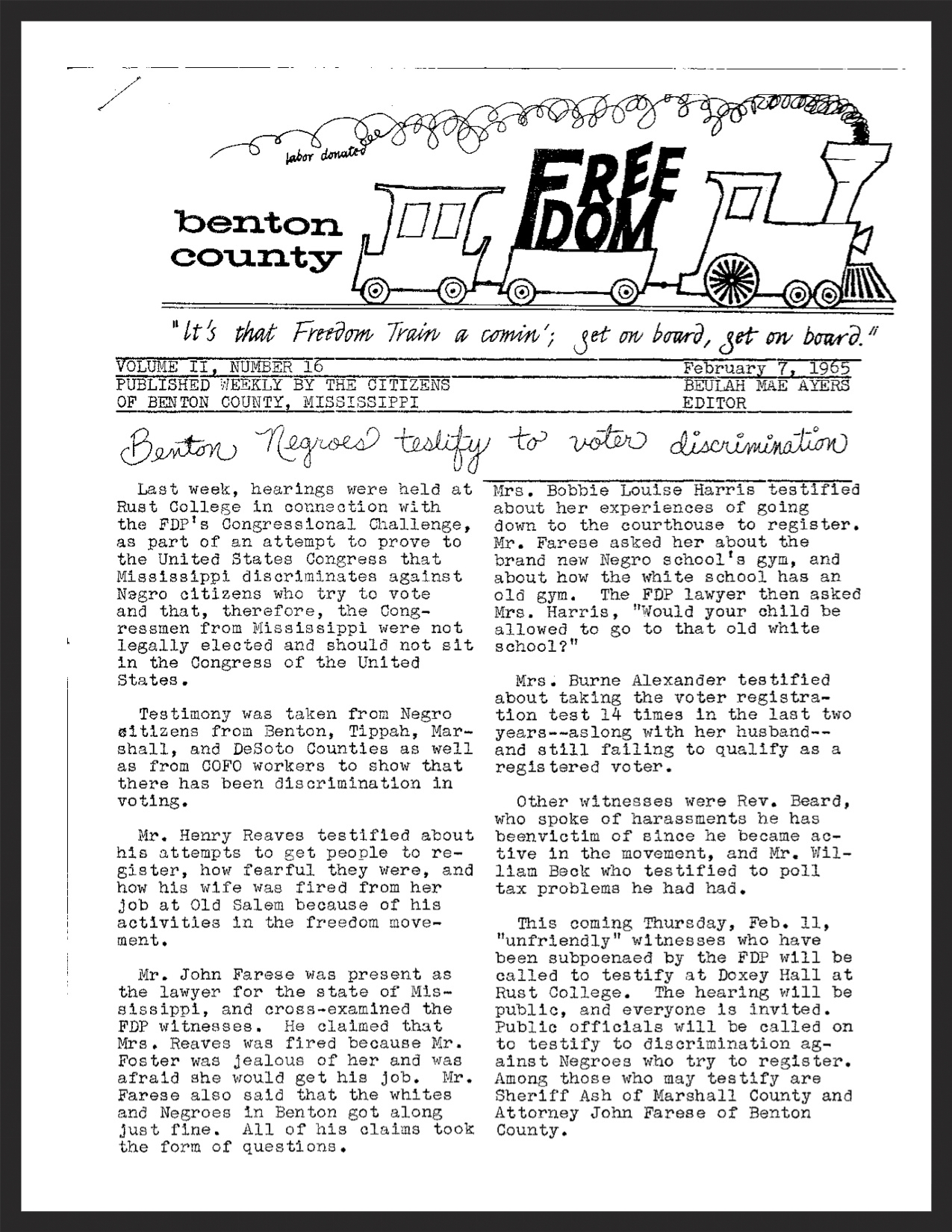 February 7, 1965