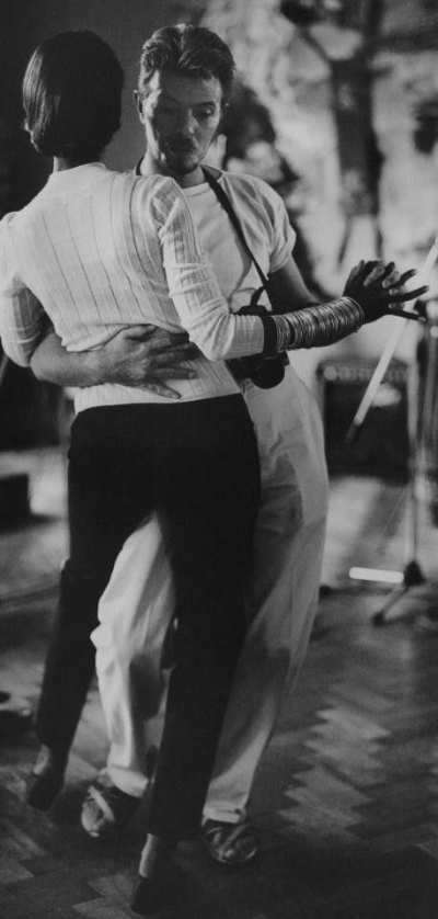 Iman & David Bowie dancing. Photographer unknown.