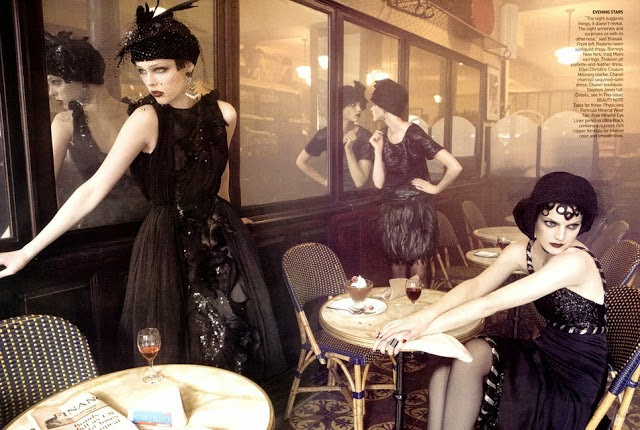 image via  Nouvelle-Noir , from a 2007 Vogue shoot styled by Grace Coddington