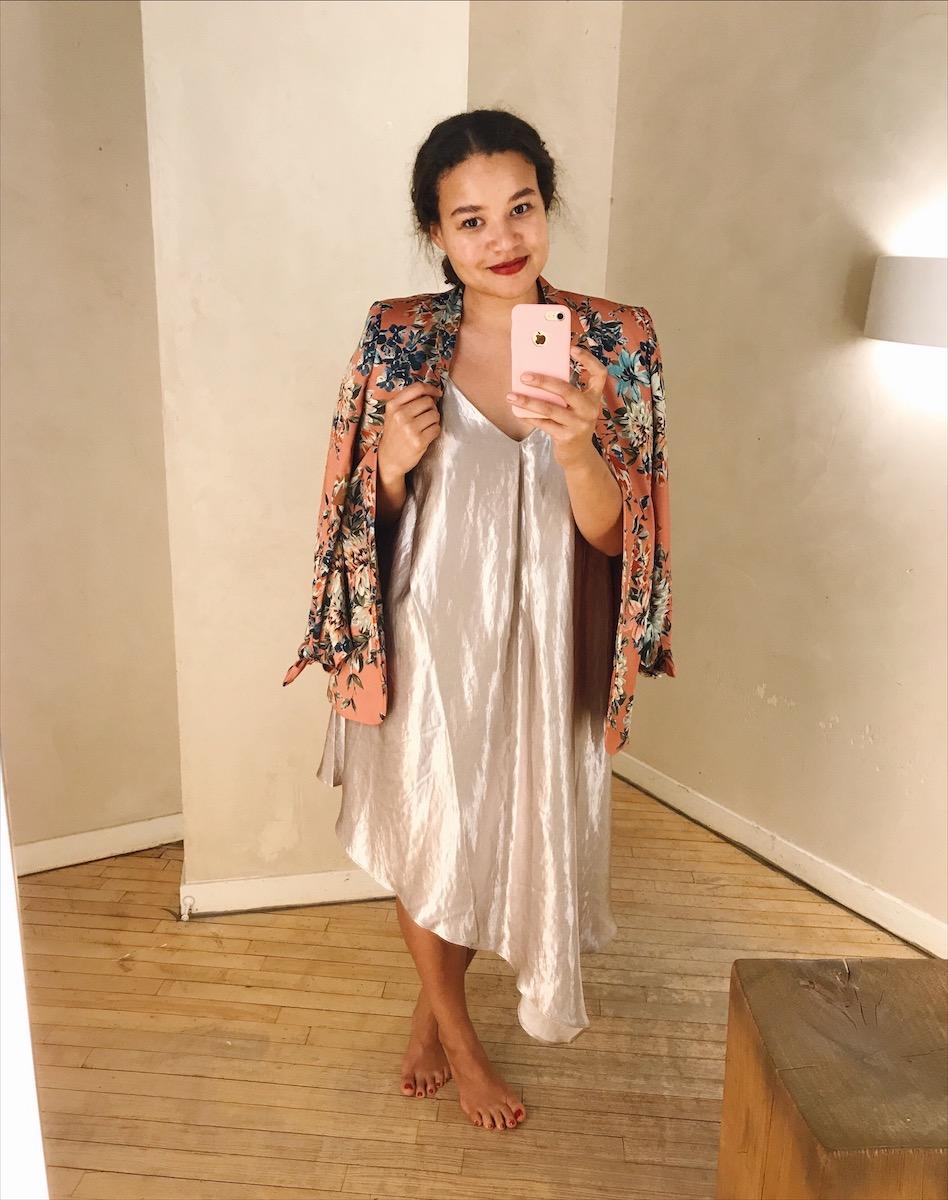 Blazer: Zara | Dress: Anthropologie | Heels (not pictured, left in Paris): Banana Republic