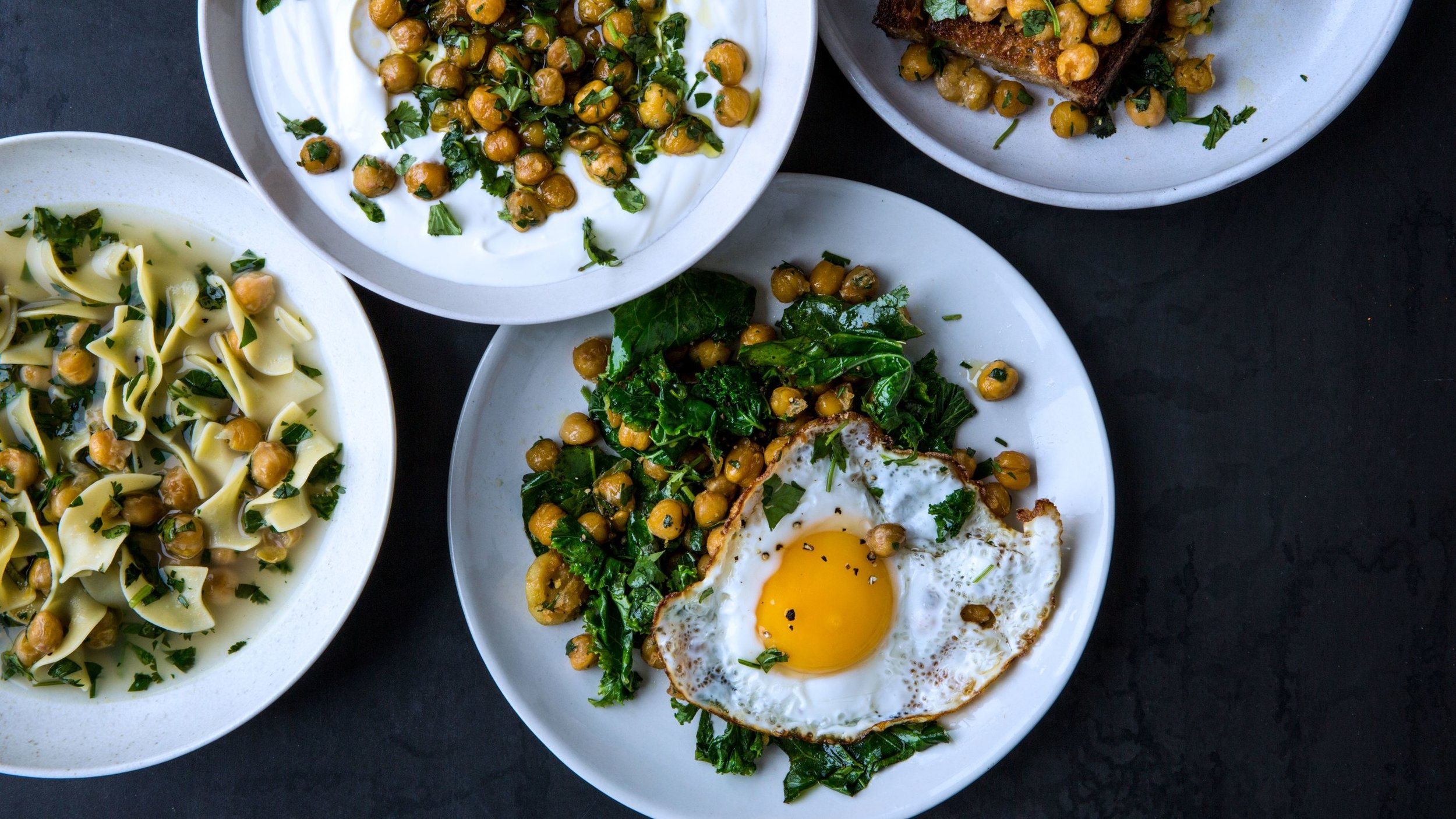 Alison Roman's Herbed Chickpeas, from Bon Apetit. Photograph by Alex Lau.