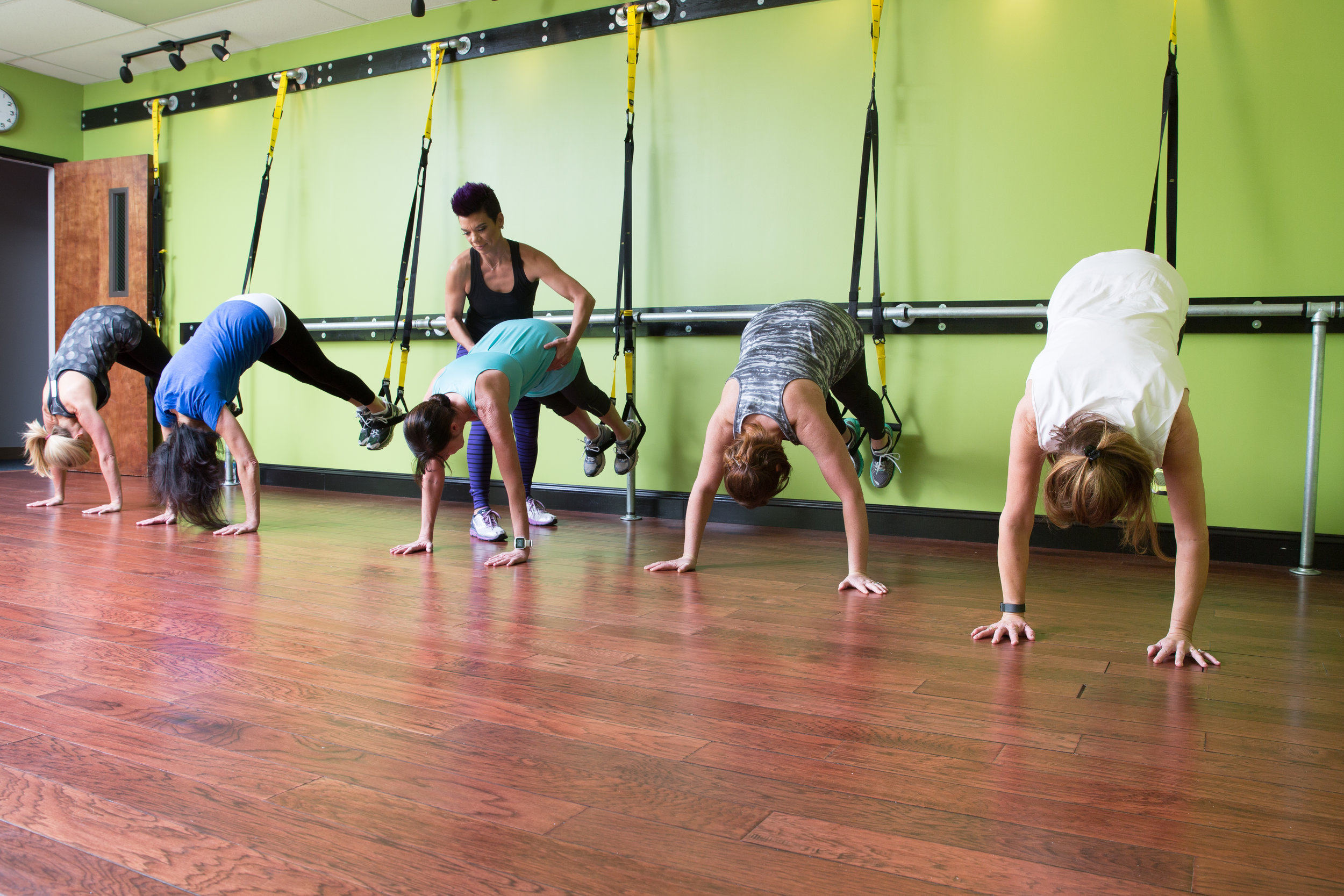 TRX class at Pilates of Charlotte