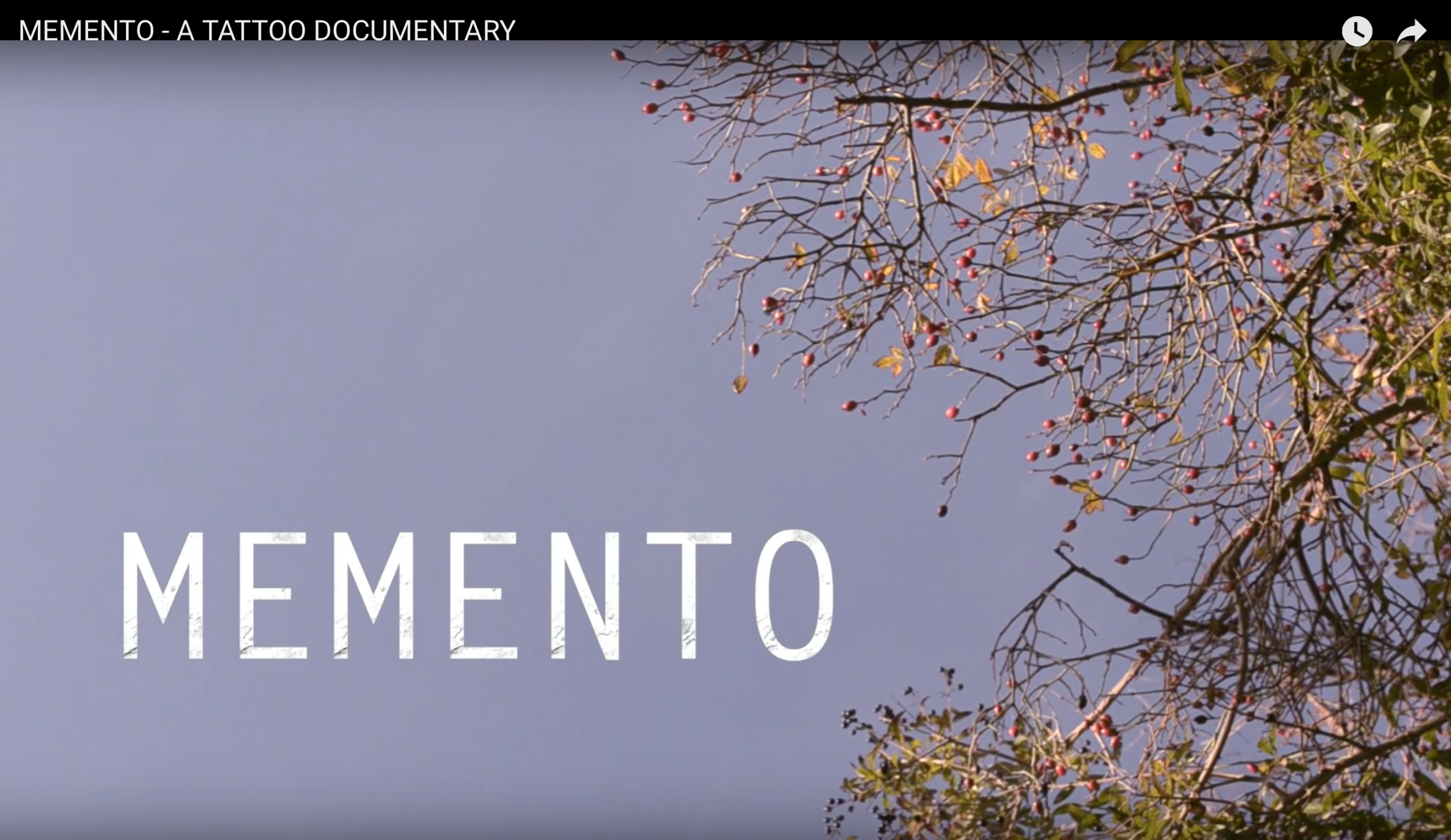 Memento - Tattoo Documentary Film