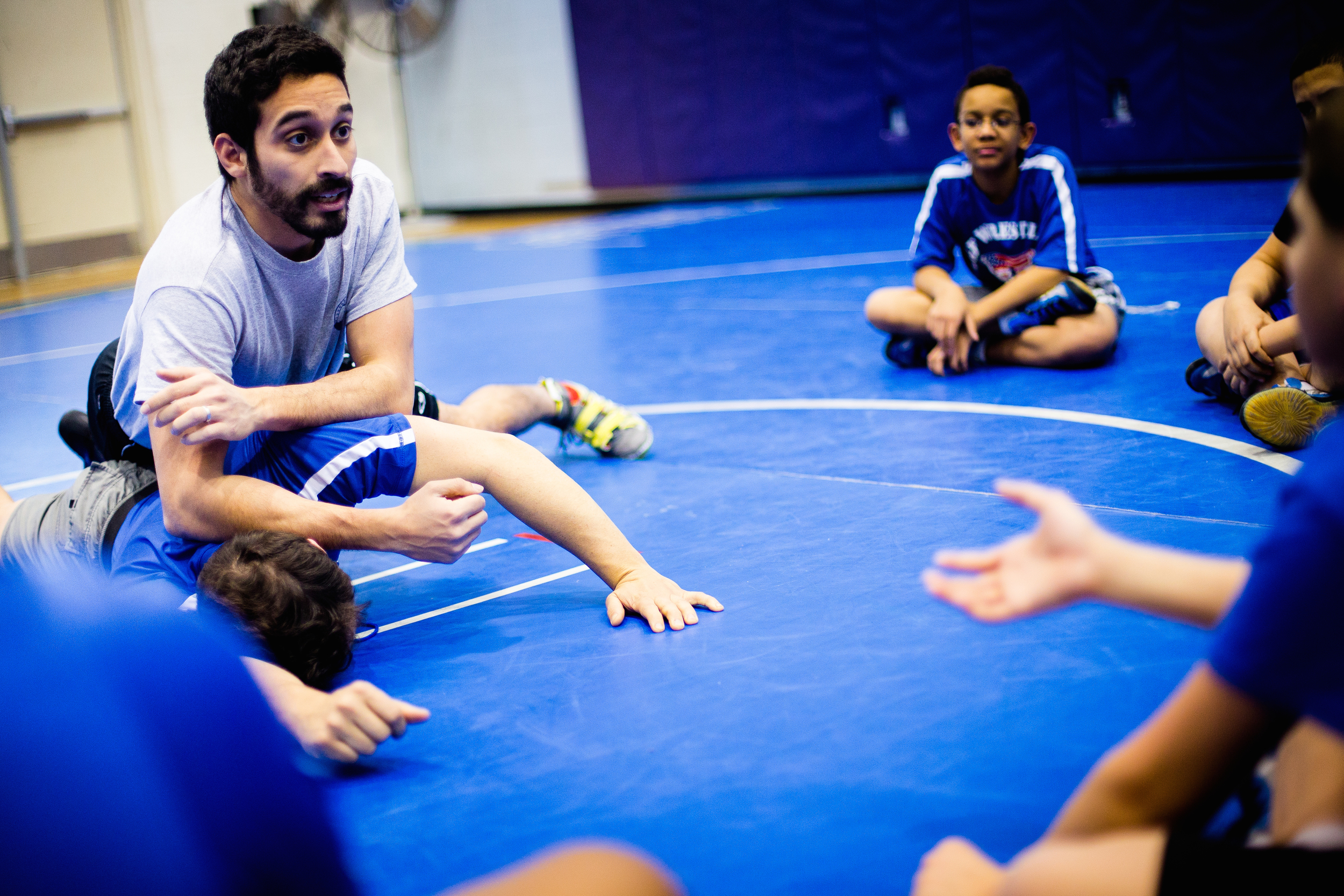Boston Youth wrestling trainging on the 27th of Feb, 2015. Photo by Ann Wang