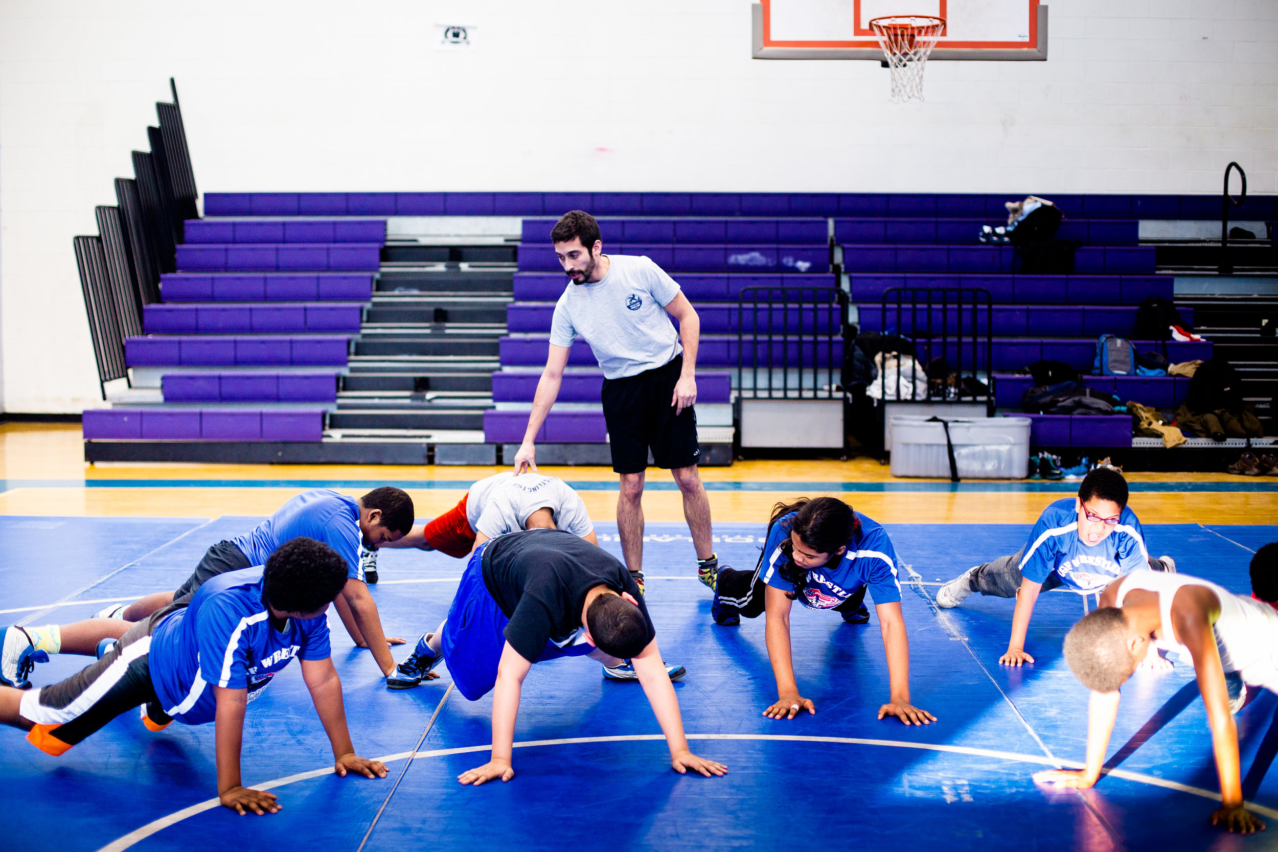Rigorous Training - Our wrestling curriculum is designed to develop student-athletes into strong and healthy individuals.