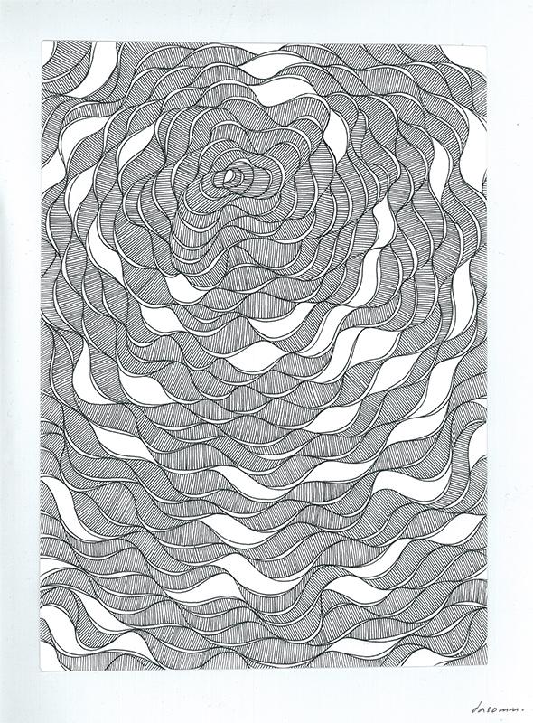 Sea Rose (original ink drawing)