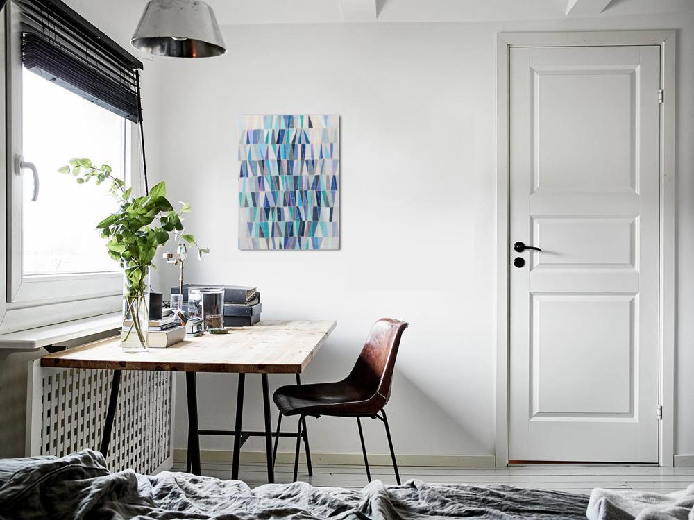 Blue Triangles - Wall Art