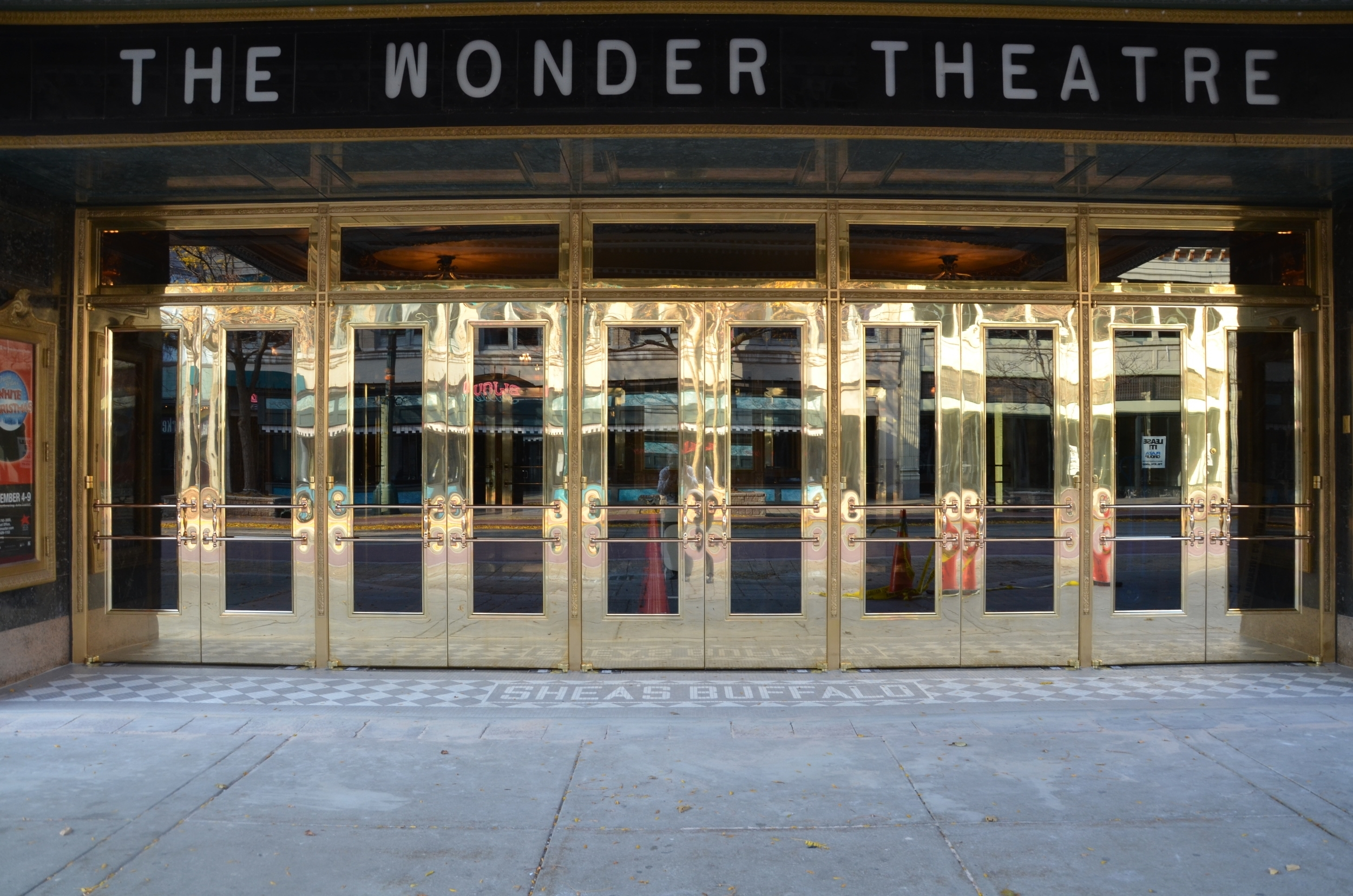 Shea's Buffalo Theater - Exterior Door Replacement Project (Historical Restoration), Custom Brass Doors