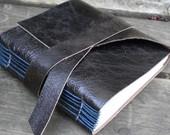 Dark Brown Leather Mini Journal - handbound ($20)