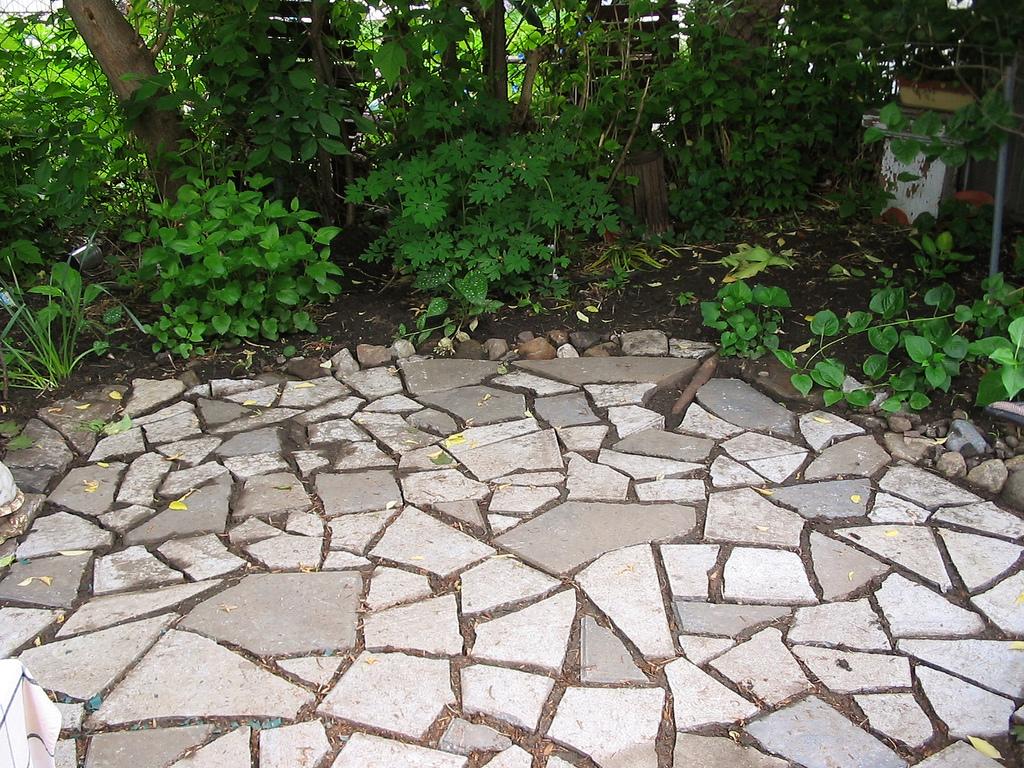 Upcycled Stone Patio