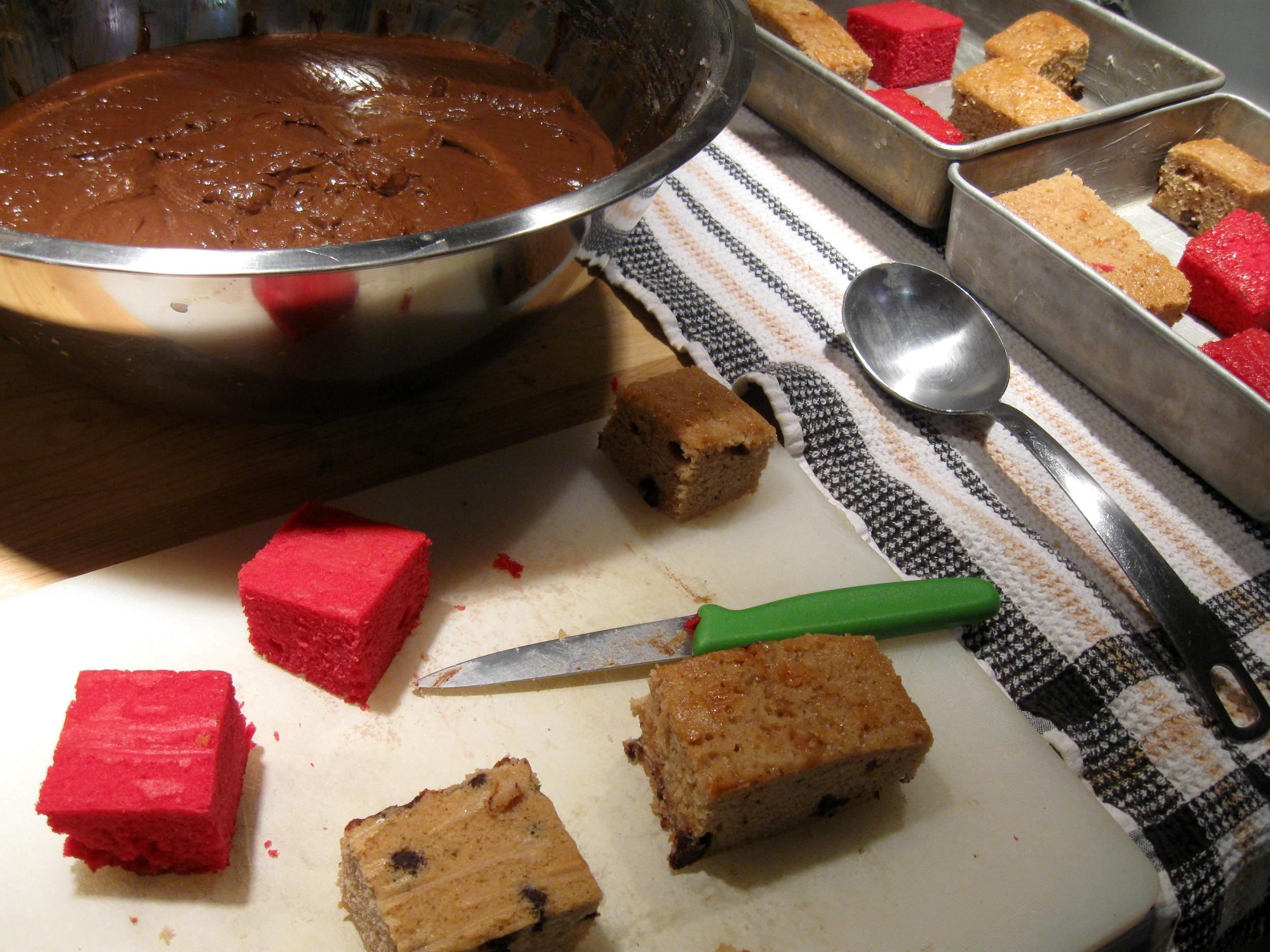 DIY: Minecraft Terrain Block Cake