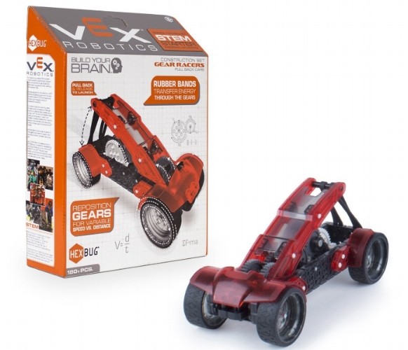 My 13yr old loves the  Vex Robotics sets . Each set is designed to teach a certain concept as it is constructed, leaving your child with a fun toy to play with once it is completed. Race cars aren't your thing? There are a  variety of other sets available  at prices that don't break the bank!