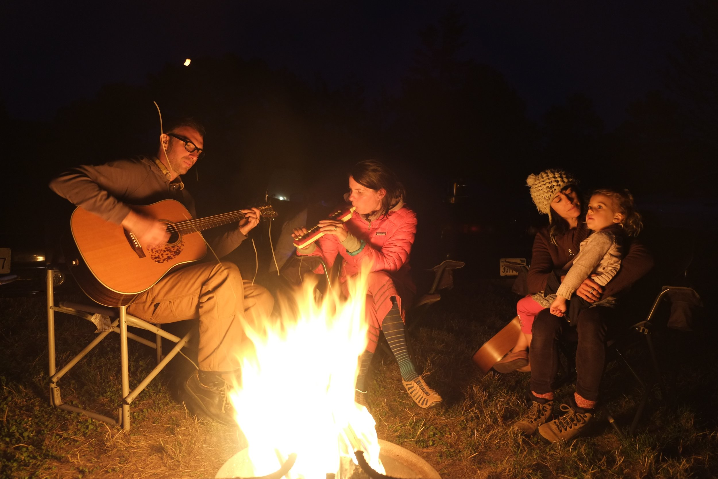 Preschool family campout at Point Reyes, Summer 2014