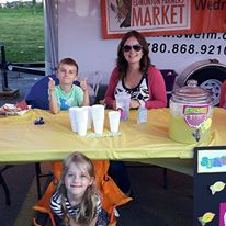 The highly successful lemonade stand raised money for the sprouts program.