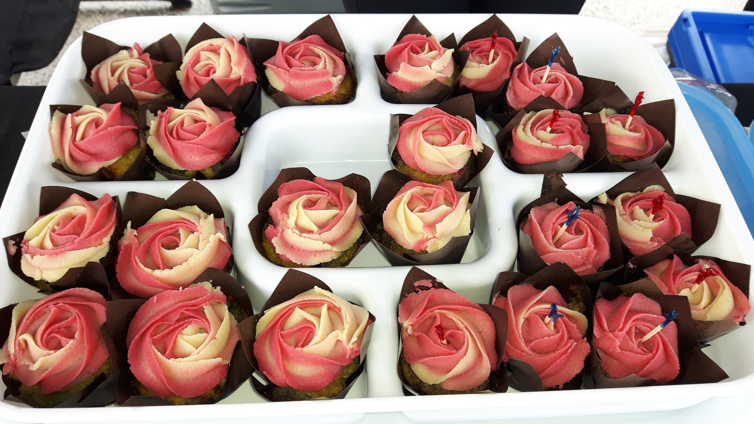 These gorgeous cupcakes are from Food in the Nud