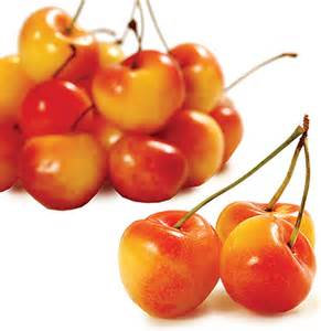 Rainier cherries, with their signature coloring
