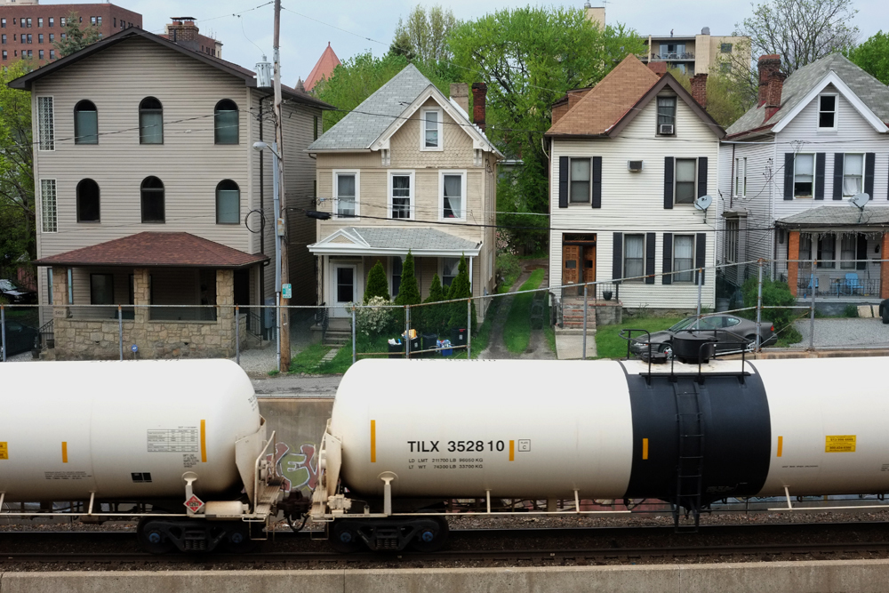 "Oil cars running through the Shadyside neighborhood of Pittsburgh. Each car carries carries approximatley 30,000 gallons of volatile fuel. © Brian Cohen, 2015.         Normal   0           false   false   false     EN-US   X-NONE   X-NONE                                                                                                                                                                                                                                                                                                                                                                             /* Style Definitions */  table.MsoNormalTable 	{mso-style-name:""Table Normal""; 	mso-tstyle-rowband-size:0; 	mso-tstyle-colband-size:0; 	mso-style-noshow:yes; 	mso-style-priority:99; 	mso-style-parent:""""; 	mso-padding-alt:0in 5.4pt 0in 5.4pt; 	mso-para-margin-top:0in; 	mso-para-margin-right:0in; 	mso-para-margin-bottom:10.0pt; 	mso-para-margin-left:0in; 	line-height:115%; 	mso-pagination:widow-orphan; 	font-size:11.0pt; 	font-family:""Calibri"",""sans-serif""; 	mso-ascii-font-family:Calibri; 	mso-ascii-theme-font:minor-latin; 	mso-hansi-font-family:Calibri; 	mso-hansi-theme-font:minor-latin;}"