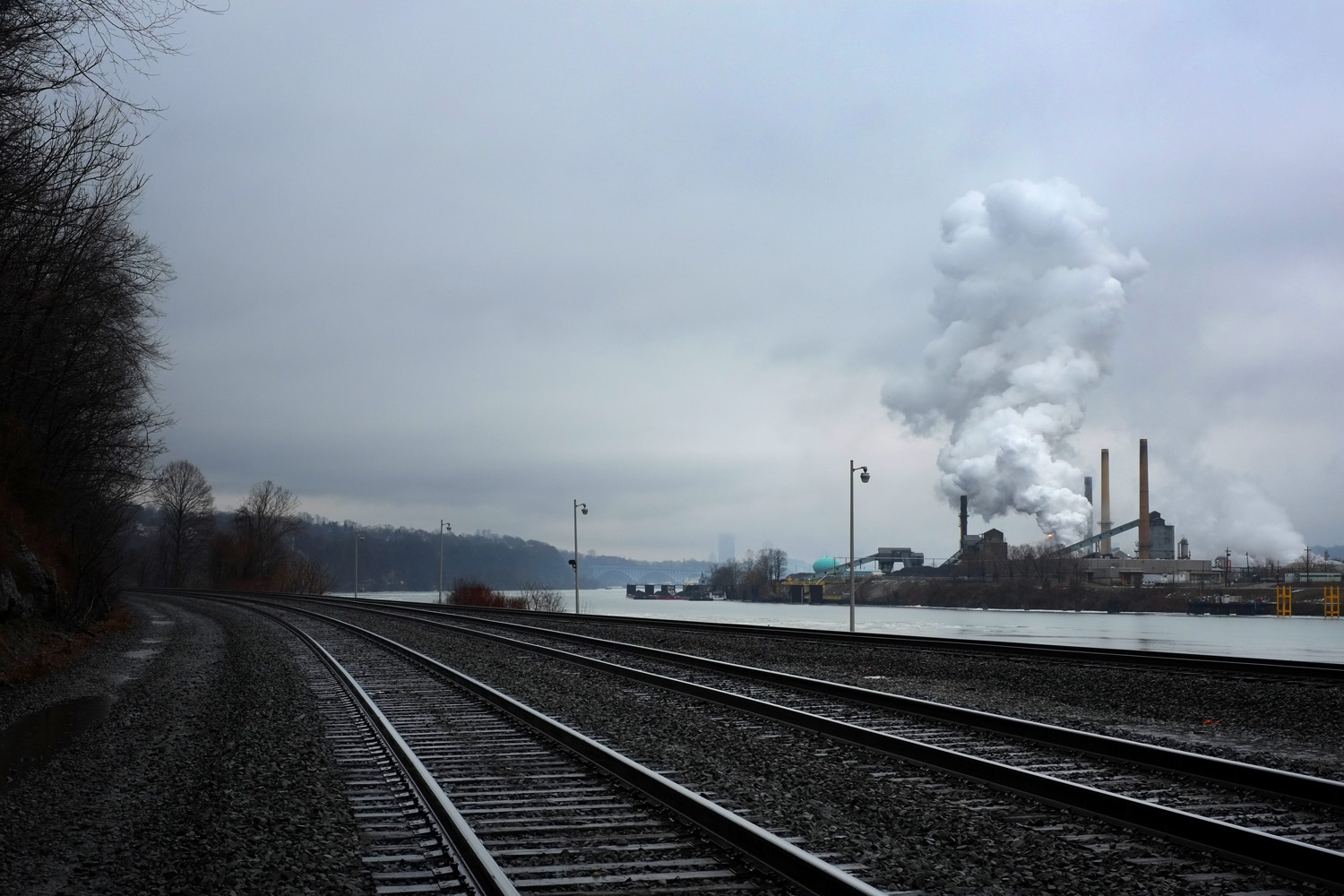 At the time this project was in production, the Shenango Inc. coke works on Neville Island was under a court order to reduce emissions. During a period of 432 days between July 2012 and September 2013, the coke works on Neville Island was in violation for 330 days.  In December, 2015, it was announced that the plant would shut down.  © Brian Cohen, 2015.